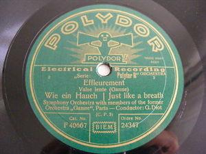 DIOT & GANNE ORCH PARIS Polydor 24347 78 ETERNAL JOY