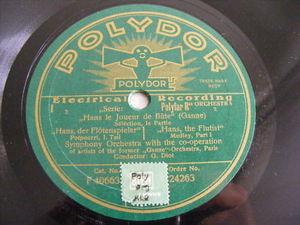 DIOT & GANNE ORCH PARIS Polydor 24263 78 HANS THE FLUTT