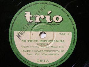 CUARTETO LEO w/SOSA MENDIETA Trio 41 Arg FOLK PROMO 78