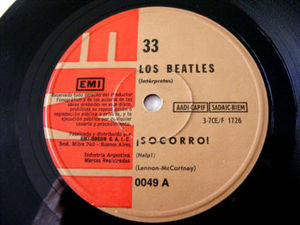 "7"" THE BEATLES Emi 0049 Argentina 33rpm SOCORRO!/ESTOY"