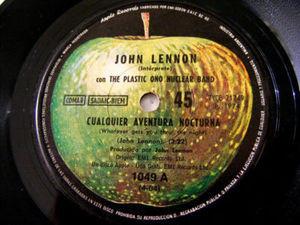 """7"""" JOHN LENNON Apple 1049 ARGENTINA 45 SACUDIDA DE BIFE"""