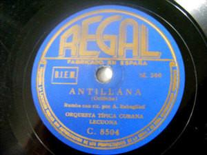 ORQUESTA LECUONA Regal 8504 LATIN 78 ANTILLANA/RUMBA