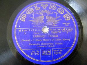 ALEXANDER BRAILOWSKY Polydor 90274 PIANO 78 CHOPIN