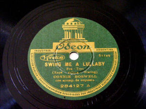 CONNIE BOSWELL Arg ODEON 284127 JAZZ 78rpm SWING ME A L