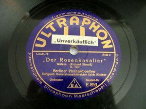 E. KLEIBER Telefunken 853 78rpm DER ROSENKAVALIER