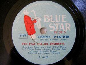 DON BYAS Blue Star 39 JAZZ 78rpm STORMY WEATHER