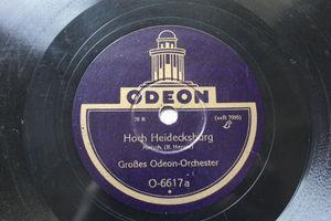 großes ODEON ORCHESTER Odeon O-6617 78 HOCH HEIDECKSBURG / RADETZKY-MARSCH
