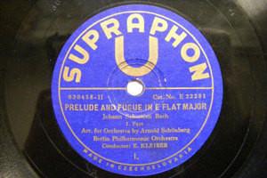 ERICH KLEIBER Supraphon 22281 2x78 BACH Prelude & Fugue