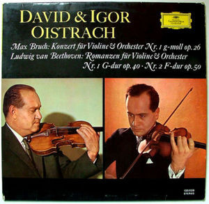 DAVID & IGOR OISTRACH Stereo DGG 135039 Beethoven LP NM