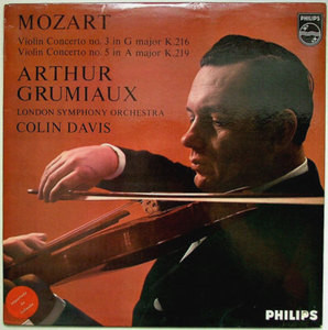 GRUMIAUX & DAVIS Philips A 02224 L MOZART No.5 LP NM-