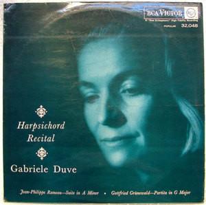 Signed GABRIELE DUVE Rca 32048 HARPSICHORD LP Rameau NM
