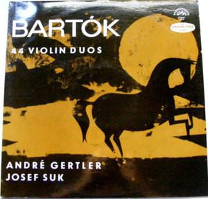 GERTLER & SUK Supraphon 50770 BARTOK 44 Violin Duos LP