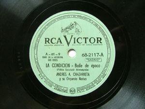 CHAZARRETA Victor 68-2117 GUITAR 78rpm LA CONDICION