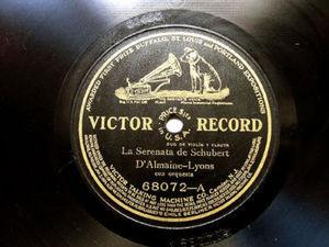 """D'ALMAINE cello SORLIN violin VICTOR 68072 12"""" 78rpm"""