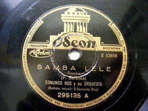 EDMUNDO ROS Odeon 2959135 LATIN 78rpm SAMBA LELE