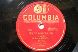 G. De LAURENTIS Columbia 15028 NEAPOLITAN COMIC SONG 78