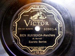 EVARISTO BARRIOS Scr VICTOR 80901 Arg FOLK 78rpm BIEN R