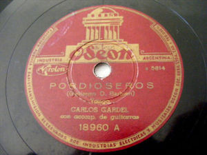 CARLOS GARDEL Odeon 18960 TANGO 78rpm CANCHERO