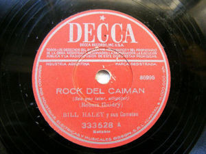 BILL HALLEY Arg DECCA 333528 78rpm ROCK DEL CANILLITA