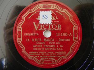 ARTURO TOSCANINI Arg VICTOR 15190 78 LA FLAUTA MAGICA