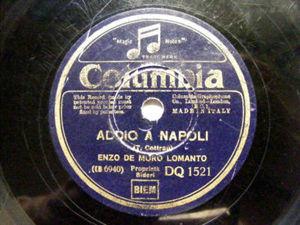 ENZO DE MURO Columbia 1521 NEAPOLITA 78rpm ADDIO A NAPO