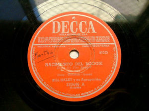 BILL HALLEY Arg DECCA 333446 ROCK 78rpm NACIMIENTO BOOG
