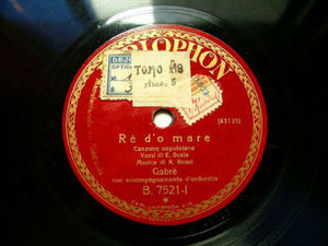 GABRE Parlophon B.7521 ITALY 78rpm RE D'O MARE