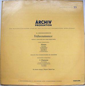 SAFFORD CAPE Archiv APM 14069 PRO MUSICA ANTIQUA LP NM-