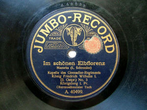 KAPELLE GRENADIER REGIMENTS Rare JUMBO 40501 78rpm
