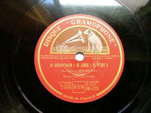 E.CARUSO Gramophone DB 123 OPERA 78rpm O SOUVERIAN!