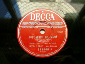 BILL HALLEY Arg DECCA 333599 ROCK 78rpm NENES DE MAMA