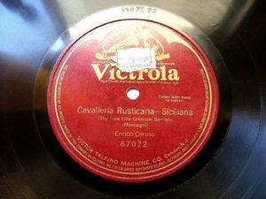 CARUSO Victrola 87072 OPERA 78rpm CAVALLERIA RUSTICANA
