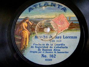 FANFARRA DE LA GUARDIA Atlanta 162 78rpm MARCHA DE SAN