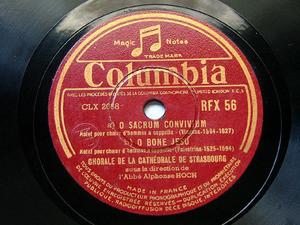 CHORAL STRASBOURG Columbia 56 78 TENEBRAE FACTAE SUNT