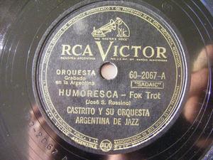 CASTRITO ARG JAZZ Victor 60-2067 78rpm HUMORESCA