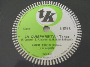 ANIBAL TROILO Tk S-5054 78rpm LA CUMPARSITA/INSPIRACION