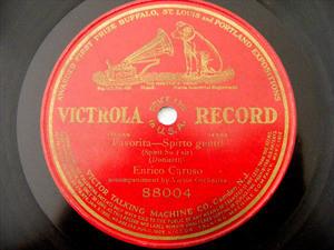 ENRICO CARUSO Victrola 88004 OPERA 78rpm SPIRITO GENTIL