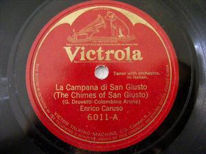 CARUSO Victrola 6011 OPERA 78rpm CAMPANA DI SAN GIUSTO