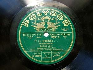 BASILICA-CHOR Polydor 21696 CHORAL 78rpm O DU FROHLICHE