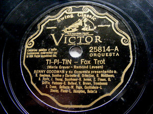 BENNY GOODMAN Victor 25814 JAZZ 78rpm TI-PI-TIN/PLEASE
