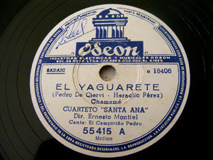 CUARTETO SANTA ANA Odeon 55415 Arg FOLK 78 EL GAUCHITO