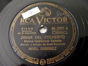 ARIEL RAMIREZ Victor 2057 Arg FOLK 78rpm MALAMBO DANZA