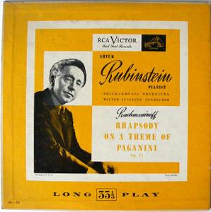 """RUBINSTEIN  & SUSSKIND Victor LM 26 RACHMANINOFF 10"""" LP"""