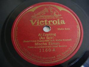 ELMAN & BONIME Victrola 1160 VIOLIN 78 LETTER OF LOVE