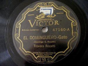 TROVERO ROCATTI Victor 47160 FOLK 78rpm EL DOMINGUERO