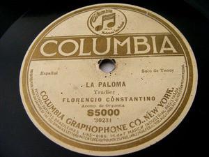 CONSTANTINO Columbia S5000 OPERA 78rpm LA PALOMA