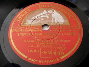 CHARLES MUNCH Gramophone W-1600 3x78 Set HONEGGER
