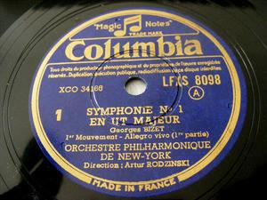 ARTHUR RODZINSKY Columbia 4x78 Set BIZET Symp#1 NM-