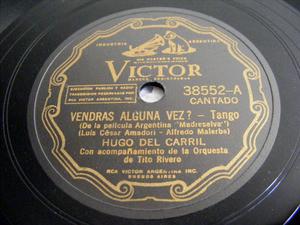 HUGO DEL CARRIL Victor 38552 TANGO 78rpm VIEJA AMIGA