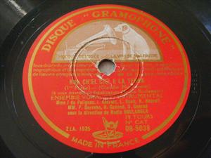 BOULANGER Ens VOCAL Gramophone 5038 78rm MONTEVERDI